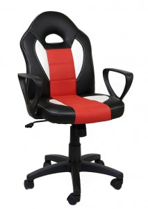 Fotel obrotowy  Feri Black/White/Red