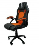 Fotel obrotowy gamingowy X6 Black/Dark Orange