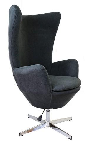 Genialny FOTEL wypoczynkowy obrotowy Chanell Black EGG Nowoczesne-meble.eu PQ12